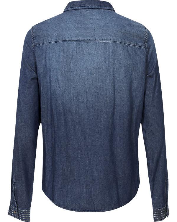 VERO MODA Jeansbluse blue denim