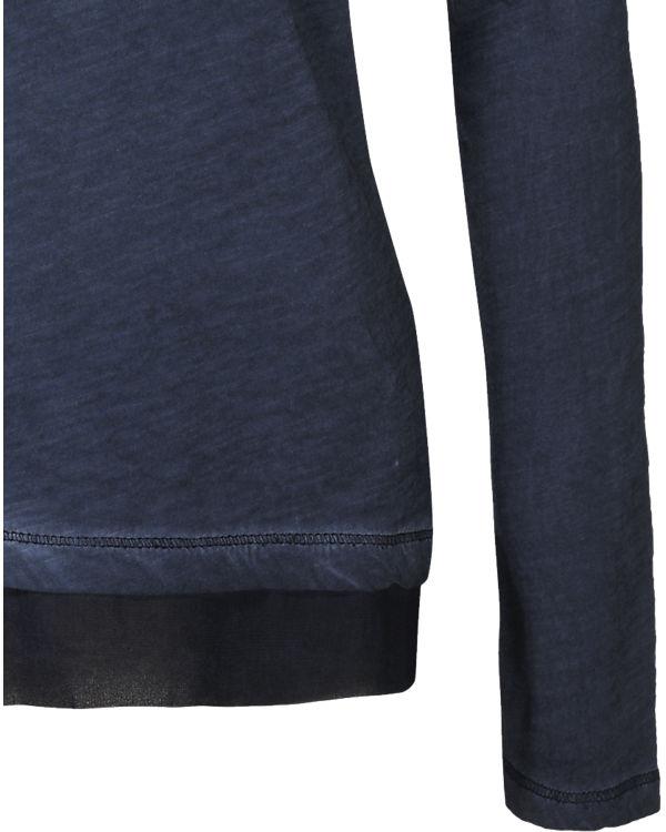 Q/S Langarmshirt dunkelblau