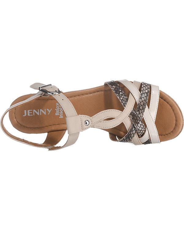JENNY Riccione Sandaletten beige-kombi