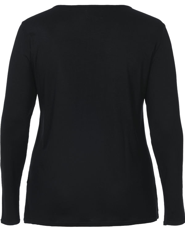 Zizzi Langarmshirt schwarz