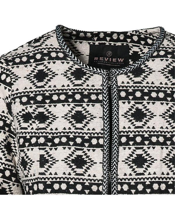 REVIEW Blazer schwarz/weiß