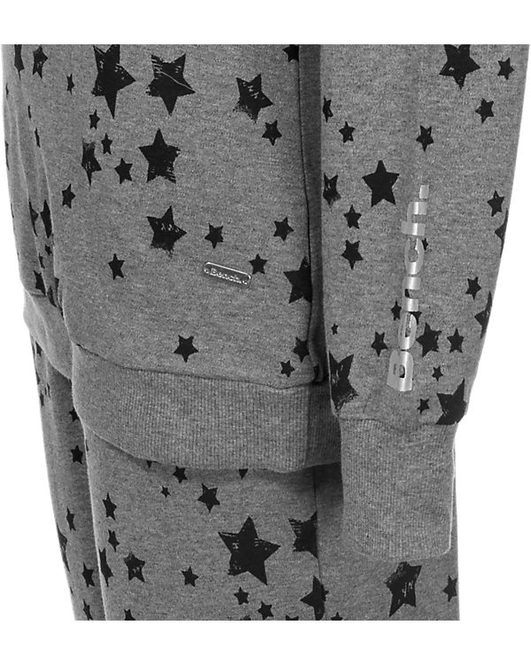 BENCH Schlafanzug Sparkle Dreams grau