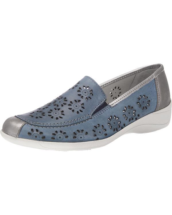 Franken-Schuhe Slipper blau-kombi
