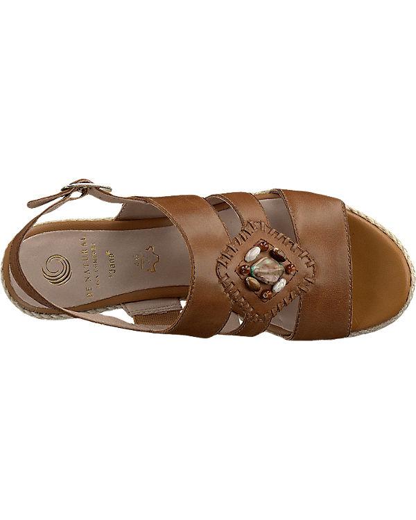 Be Natural Stuka Sandaletten braun