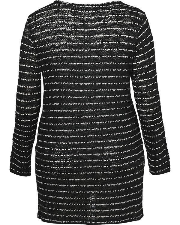 JUNAROSE Pullover schwarz/weiß