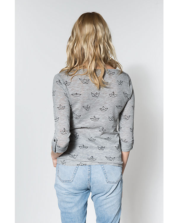 ONLY 3/4-Arm-Shirt hellgrau