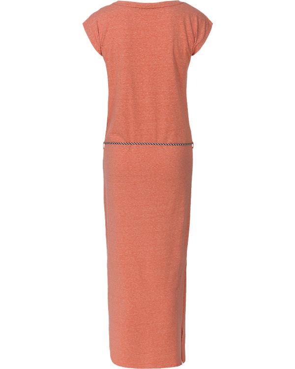 blue Kleid orange