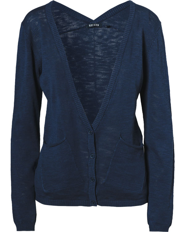 blue Strickjacke blau