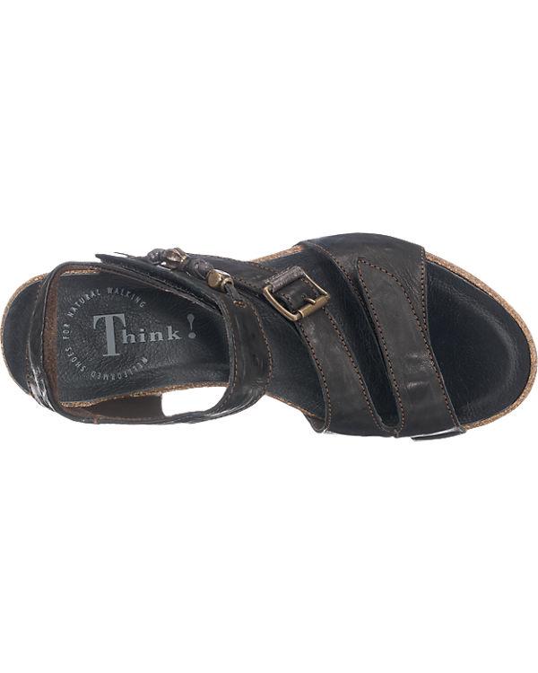 Think! JOMAI Sandaletten schwarz-kombi