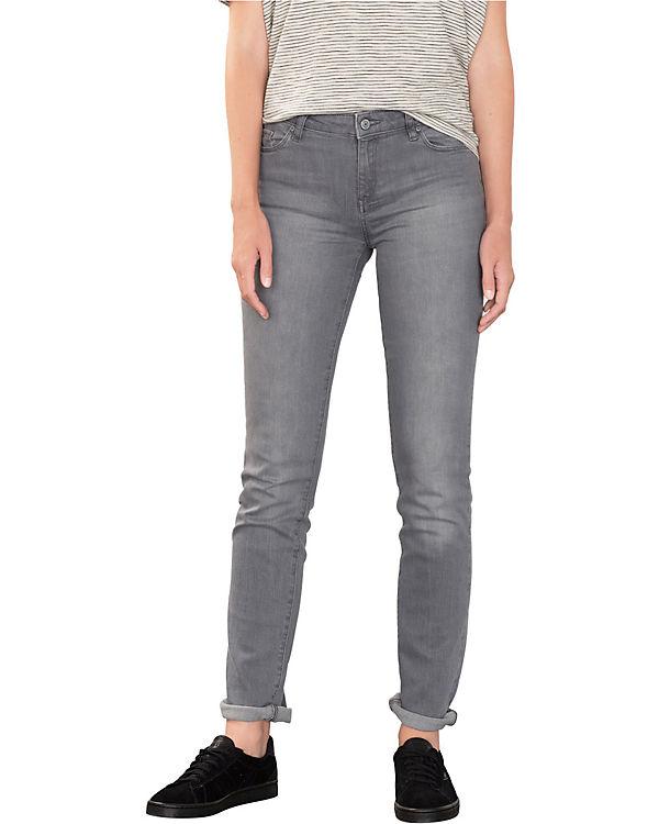 ESPRIT Jeans Straight Medium Rise grau