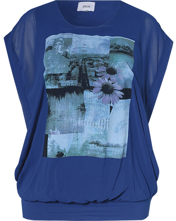 Zizzi Blusenshirt blau