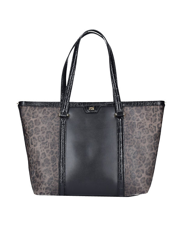 Roberto Cavalli Class Roberto Cavalli Class Signature Collection Shopper Tasche Leder 32 cm schwarz