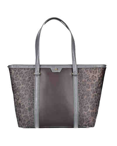 Roberto Cavalli Class Signature Collection Shopper Tasche Leder 32 cm