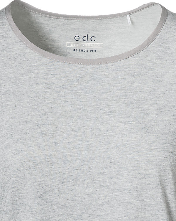 edc by ESPRIT Langarmshirt dunkelgrau