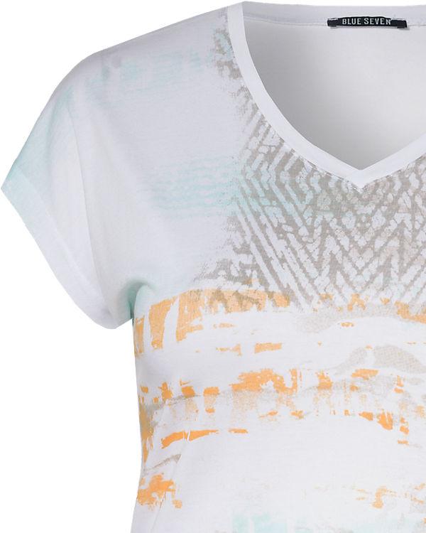 BLUE SEVEN T-Shirt weiß-kombi