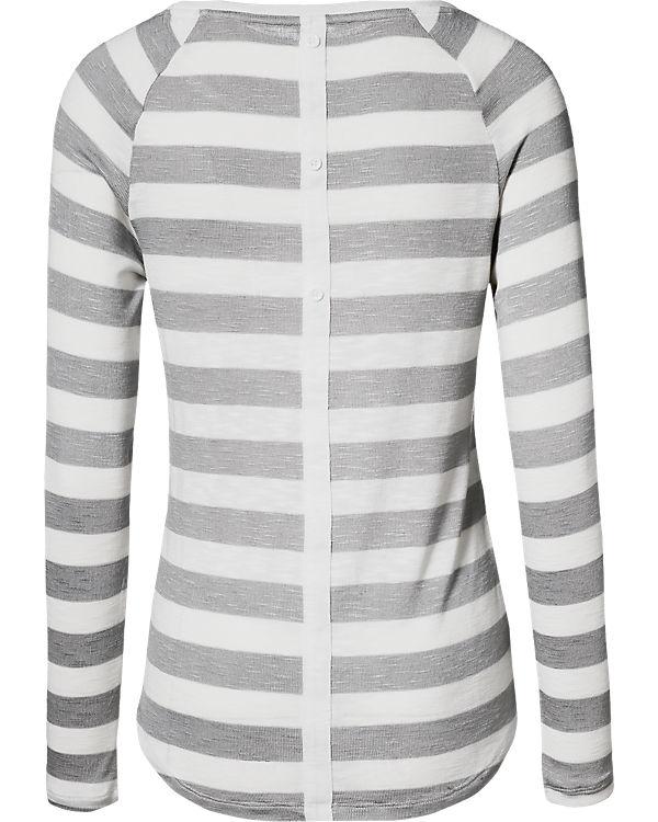 ONLY Langarmshirt weiß/grau