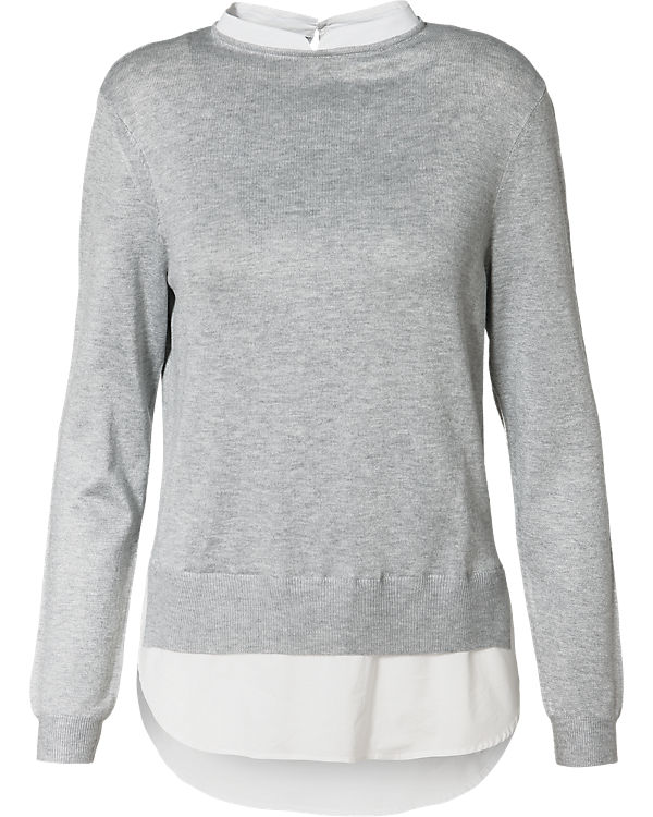VERO MODA Pullover weiß/grau
