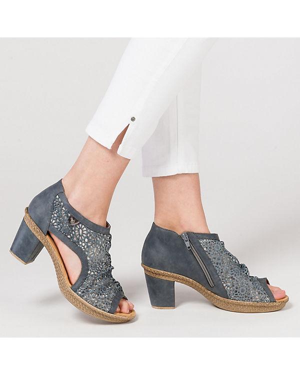 rieker Sandaletten blau-kombi