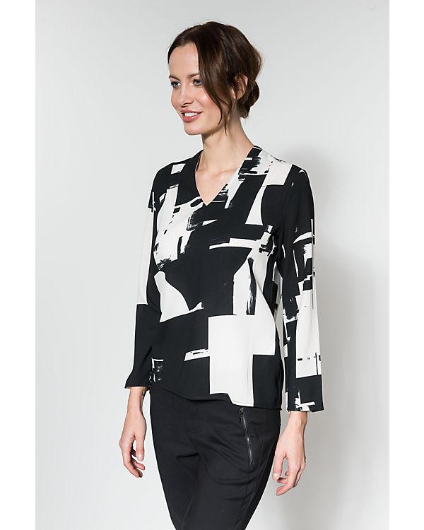 ONLY 7/8 Blusenshirt schwarz/weiß