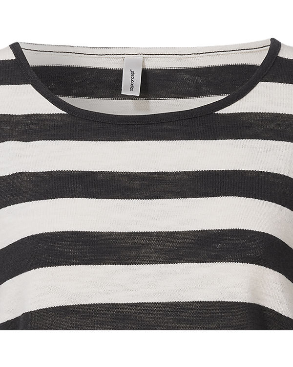 Soyaconcept 3/4-Arm-Shirt schwarz/weiß