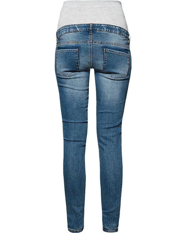 mamalicious Umstandsjeans MLSCRATCH POCKET slim blue denim