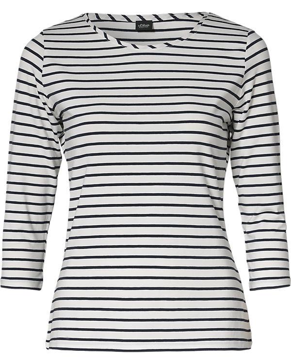 s.Oliver BLACK LABEL 3/4-Arm-Shirt weiß