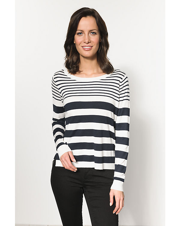 ONLY Pullover blau/weiß