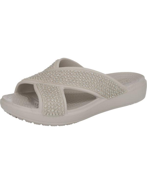 CrocsSloane Embellished Xstrap Komfort-Pantoletten silber