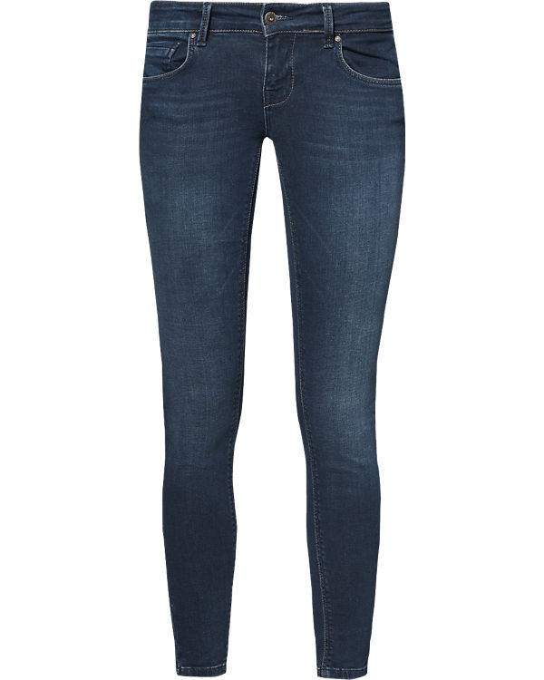 ONLY Jeans Skinny Push Up dark blue denim