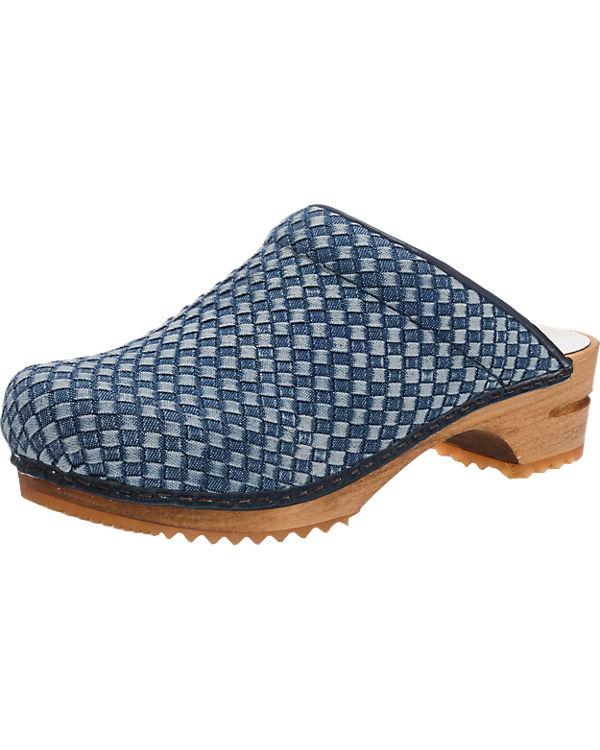 Sanita Debra Pantoletten blau-kombi
