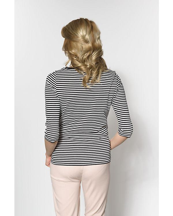 VERO MODA 3/4-Arm-Shirt schwarz/weiß