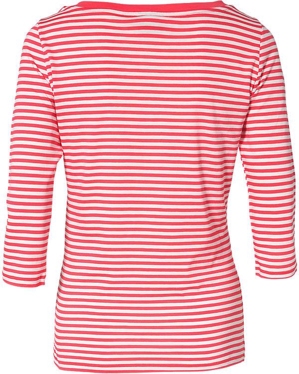 VERO MODA 3/4-Arm-Shirt rot/weiß