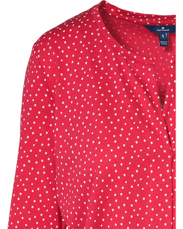 TOM TAILOR Jerseybluse rot