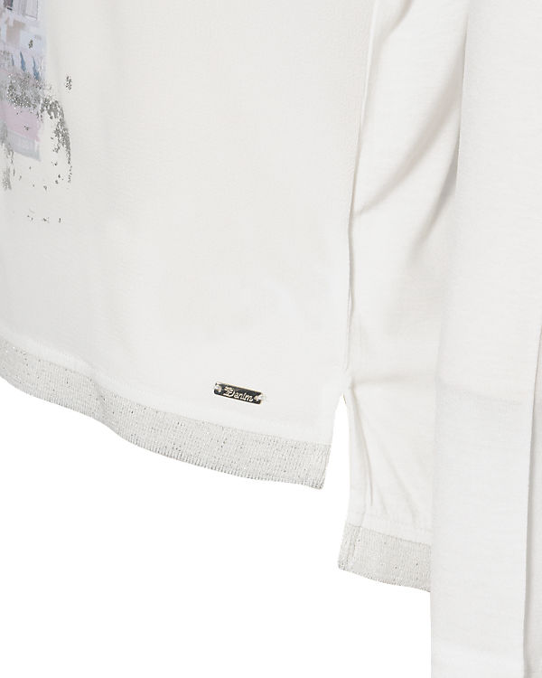 TOM TAILOR Denim Langarmshirt offwhite