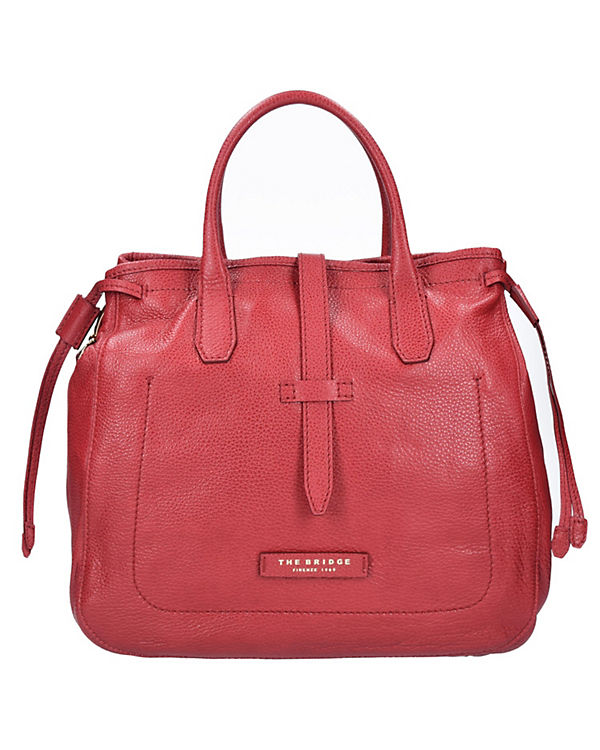 The Bridge The Bridge Plume Soft Donna Handtasche Leder 33 cm rot