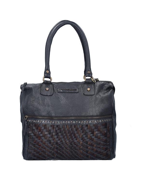 Taschendieb Taschendieb Wien Shopper Tasche Leder 35 cm schwarz