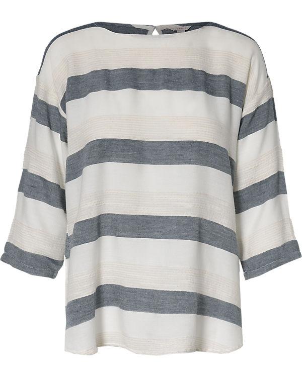 ESPRIT 3/4-Arm-Bluse blau/weiß