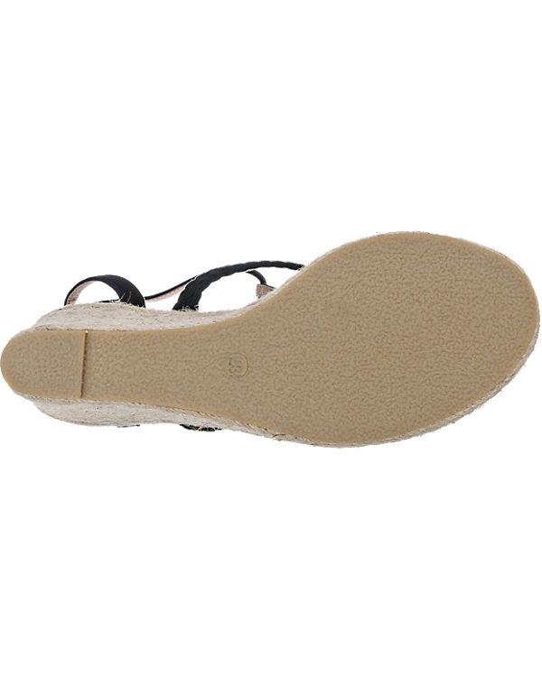 BUFFALO Sandaletten schwarz-kombi