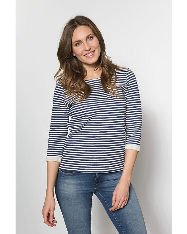 VERO MODA 3/4-Arm-Shirt blau/weiß
