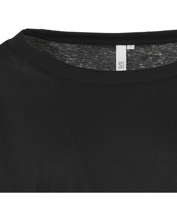Q/S T-Shirt schwarz