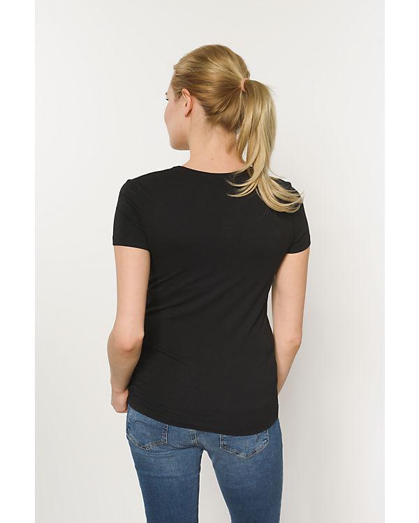 pieces T-Shirt schwarz