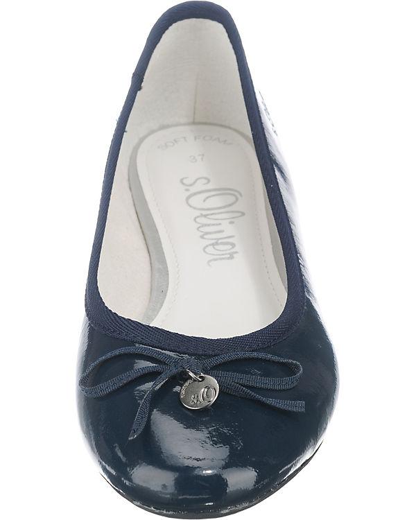 s.Oliver Ballerinas dunkelblau