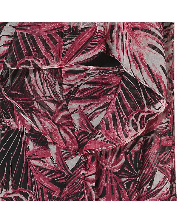EMOI en plus Bluse schwarz/pink
