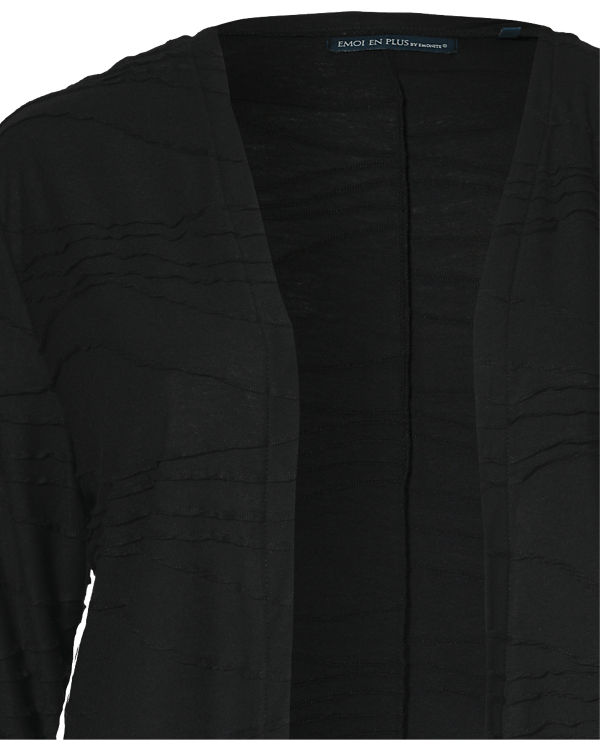 EMOI en plus Strickjacke schwarz