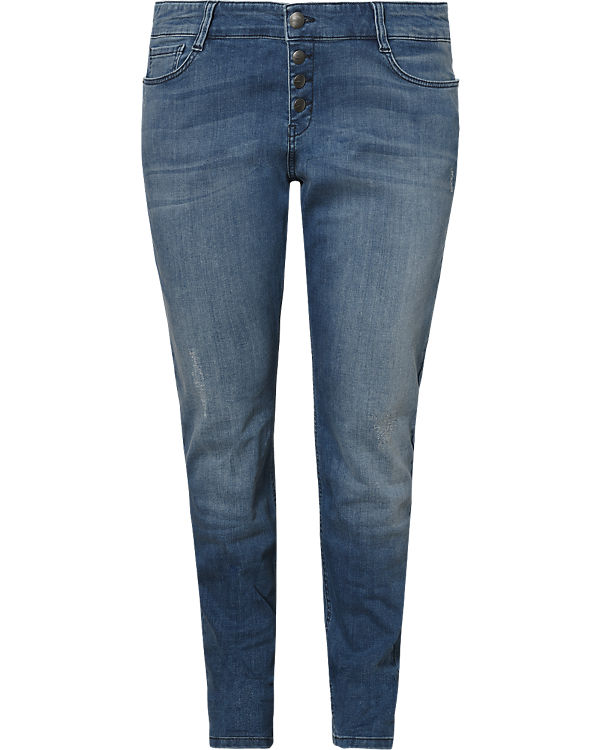 TRIANGLE Jeans Straight Fancy blue denim
