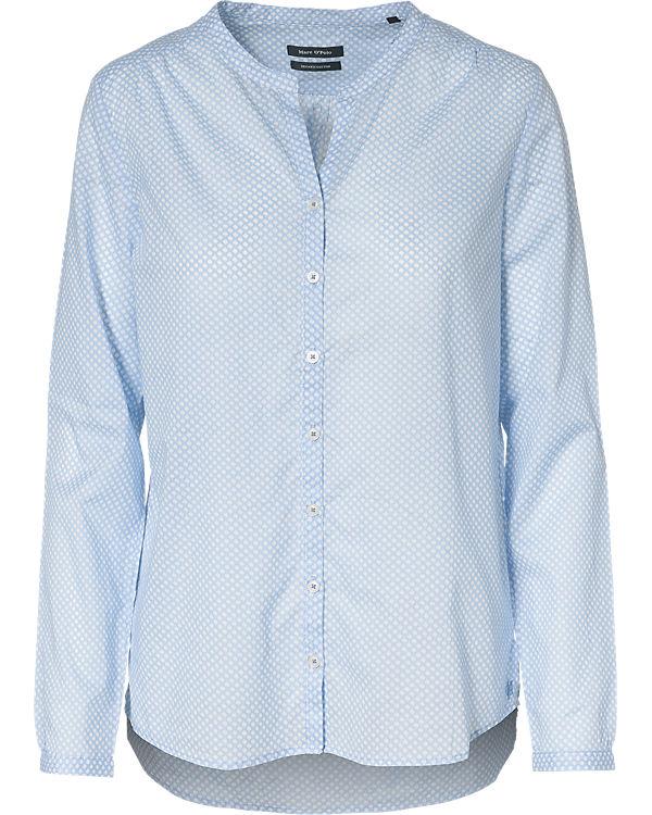 Marc O'Polo Bluse blau/weiß