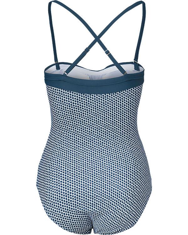 SCHIESSER Badeanzug blau