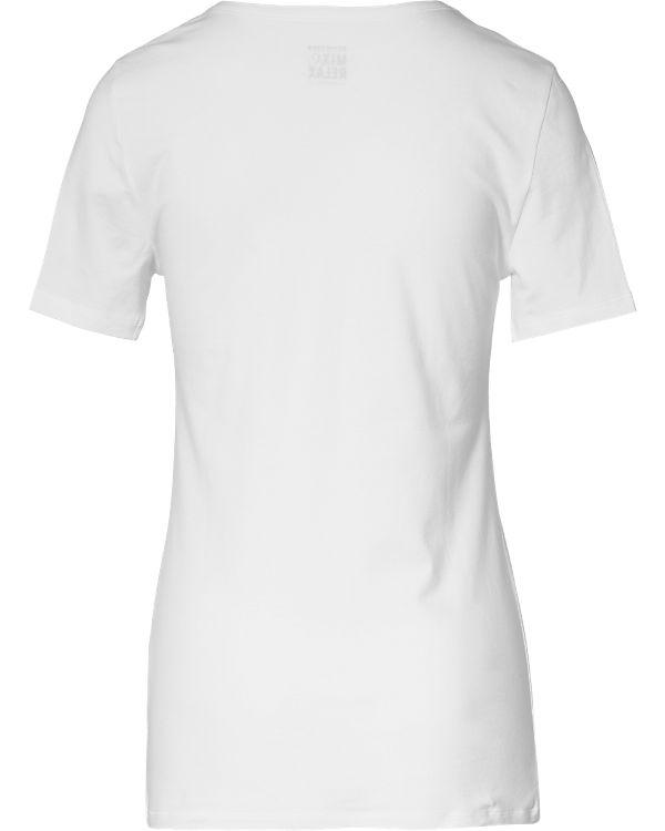 SCHIESSER Schlafshirt Mix & Relax weiß