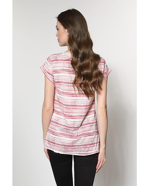 ESPRIT T-Shirt rot/weiß