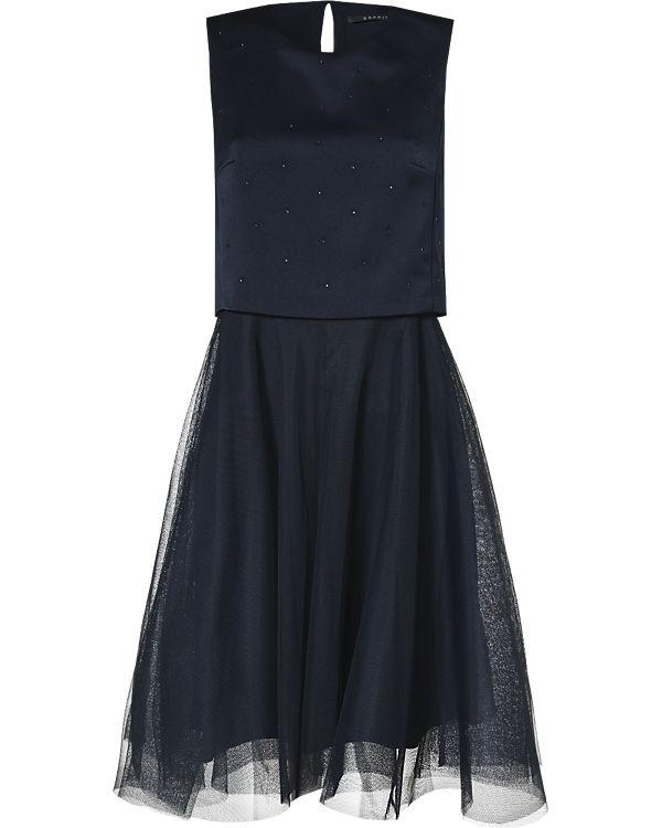 ESPRIT collection Cocktailkleid dunkelblau